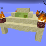 スカイブロックピラミッド島攻略
